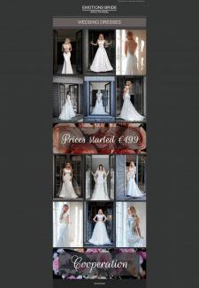 Создание письма, тематика свадебные платья