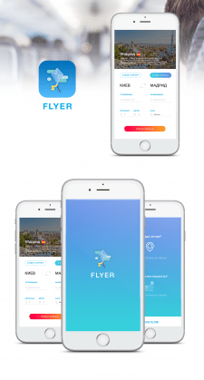 Дизайн мобильного приложения FLIYER