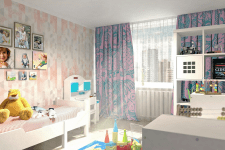 Визуализация детской комнаты 1