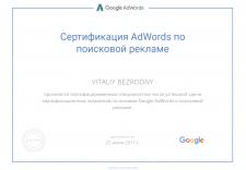 Сертификат Adwords по поисковой рекламе