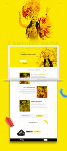 "Landing page ""Carnival"""
