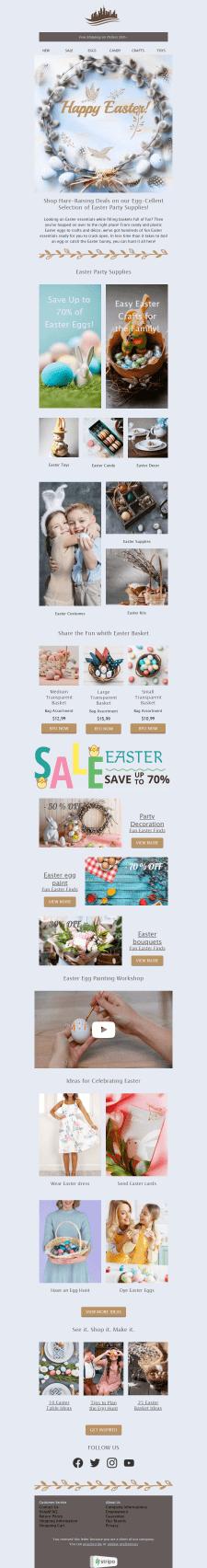 Шаблон Easter для Stripo