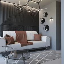 3D визуализация гостиной.