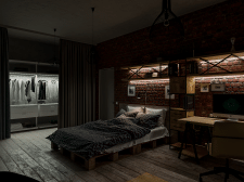 Eclectic loft. Badroom