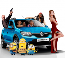 Фотозона для дилерского автосалона Renault