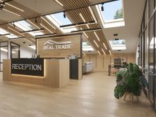 Дизайн офиса на мансардном этаже