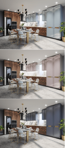 Дизайн кухни. 3 Варианта цветового решения фасадов