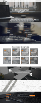 Landing page. Cайт-одностаничник IT-курсов.