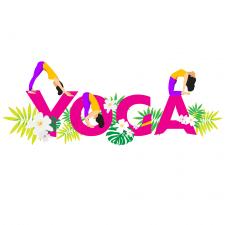 Векторная иллюстрация для фестивала йоги