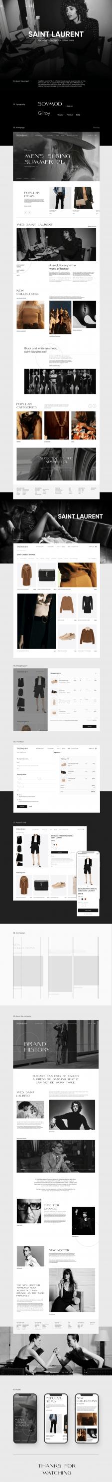 Saint Laurent   Online store redesign