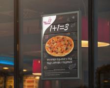 "Постер для пиццерии ""Час поїсти"""