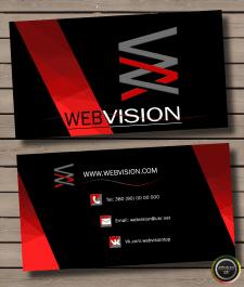 Дизайн визитки для WebVision