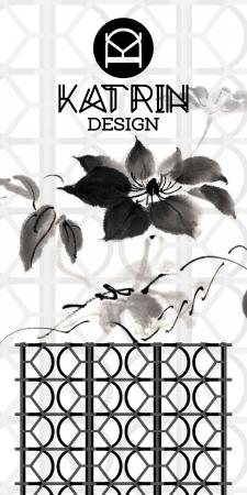 Эскиз логотипа и паттерна для Дизайнера интерьеров