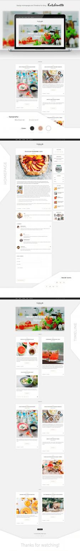Дизайн гастро-блога