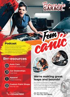 Дизайн листовки Femcanic
