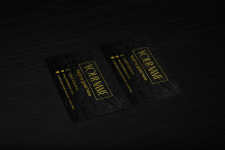 Дизайн визитки в золоте