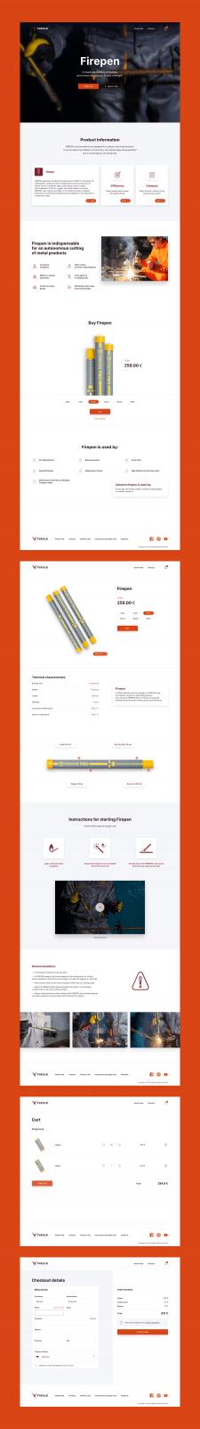 Дизайн сайта для Firelk