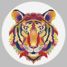 Схема для вышивки (тигр)