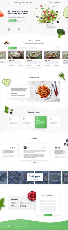 CMS WordPress. Сайт доставки здорового питания