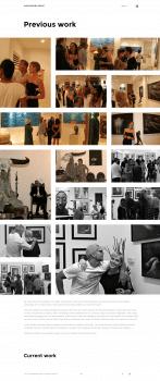 Website portfolio for artist