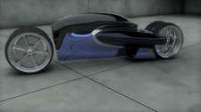 Lowpoly moto Bugatti concept