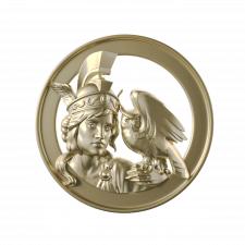3д модель медальойна с портретом