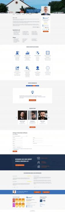 Дизайн страницы страницы маклера (Landing page)