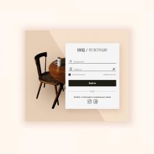 Дизайн формы входа на сайт