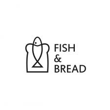 Лого для ресторана быстрого питания ч.б. вариант