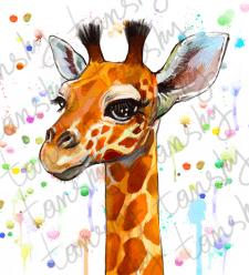 жираф иллюстрация на заказ большого формата