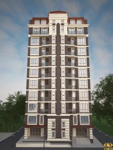 Визуализация экстерьера 10 этажного дома