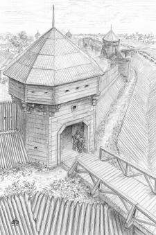 Батурин. Нежинские ворота в начале 1650-х