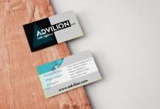 Дизайн визитки Adlivion web agency