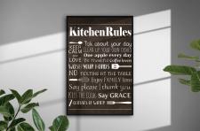 Постер правила кухни
