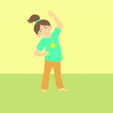 Иллюстрация  с ребёнком, деляющим зарядку
