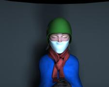 девушка в каске