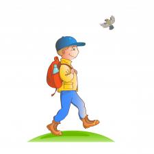 Мальчик турист