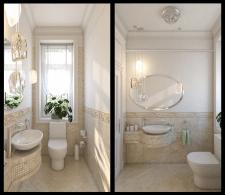 дизайн маленького туалету