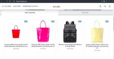 Наполнение интернет магазина сумками, чемоданами