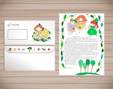 Illustrations for Children's Letter Zinnia Fairy