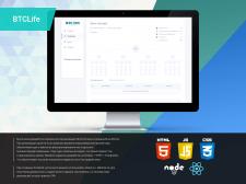 BTCLife React+Node.js