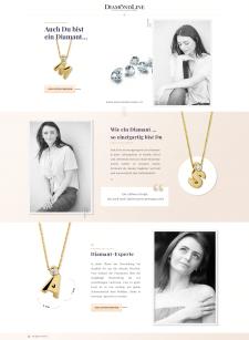 Лендинг, новая коллекция ювелирного бренда