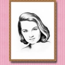Портрет очаровательной женщины