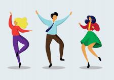 """Векторный рисунок """"Люди танцуют"""""""