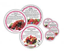 Серия этикеток для замороженных ягод