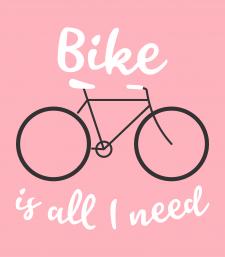 Векторная иллюстрация на вело тематику