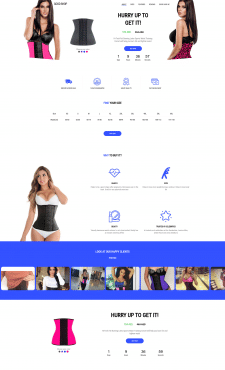 Landing page Corsets