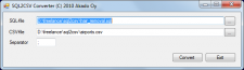 Конвертор SQL2CSV