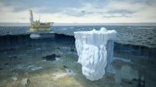 Айсберги - угроза нефтедобыче.