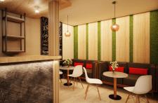 Дизайн визуализация кофейни